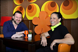 Mieke Devolder en Steven Boussen van eetcafe Orange in Moorsele